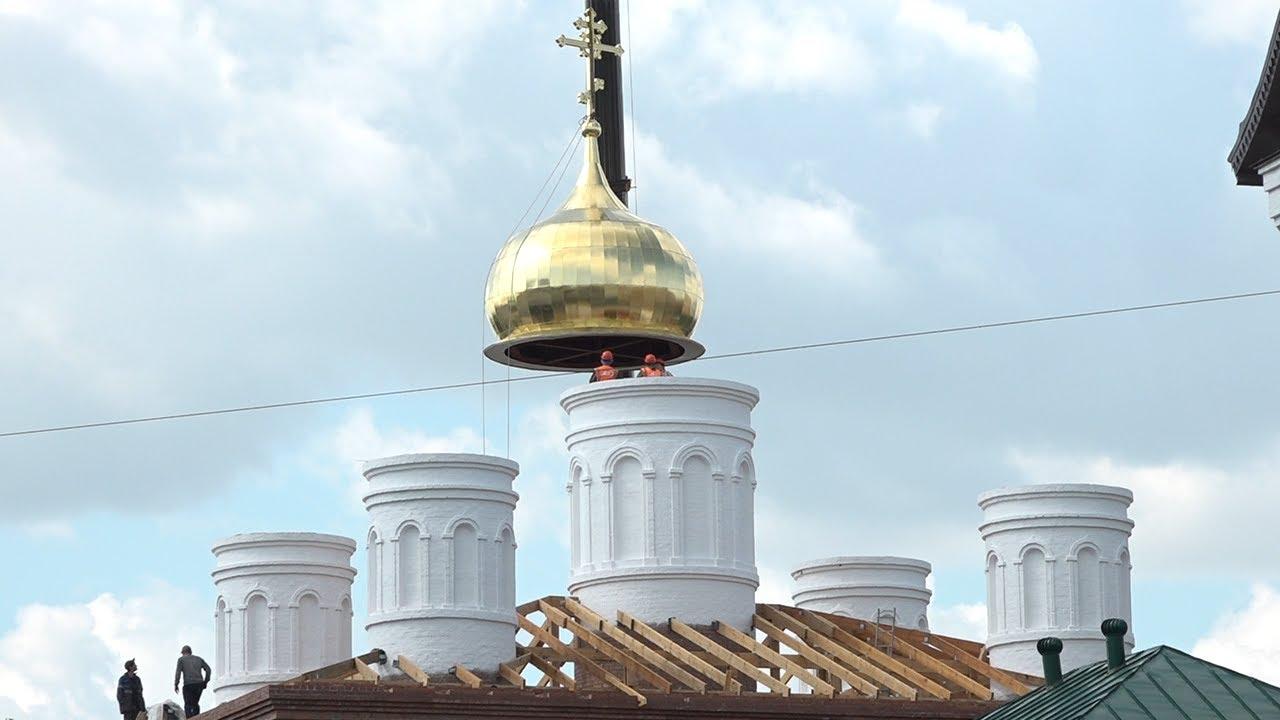 В день крещения Руси на Спасский женский монастырь установили купола